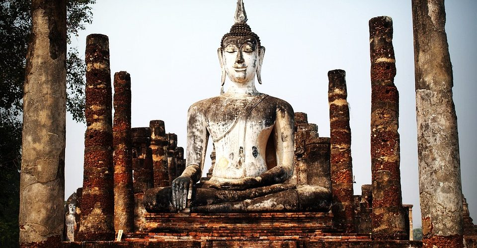 Buddahstatue in Indien
