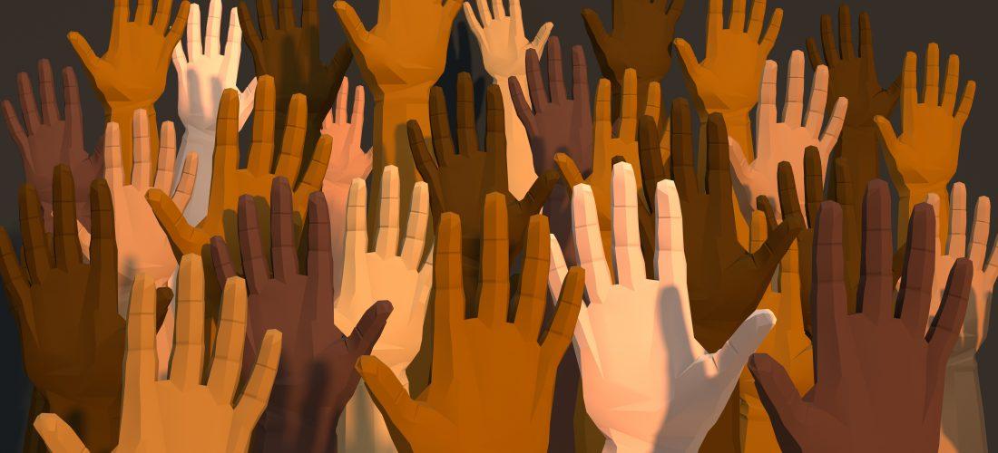 Hände mit verschiedenen Hautfarben